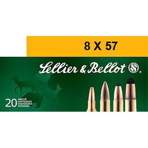 Sellier & Bellot 8x57 Rimmed JR 196 Grain SPCE 20 Round Box
