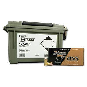 Blazer Brass .45 ACP Ammunition 230 Grain FMJ 830 fps