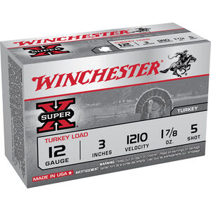 Winchester, Super X 12 Gauge Ammunition 10 Rounds, 1.875 Ounce, #5 Copper Plated, 3""