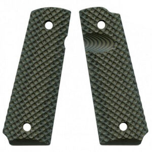 VZ Custom Gun Grips Full Size 1911 VZ Recon Very Aggressive Texture G10 Dirty Olive