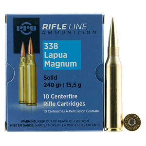 Prvi Partizan PPU Rifle Line .338 Lapua Magnum Ammunition 10 Rounds 240 Grain Full Metal Jacket Boat Tail 2995fps