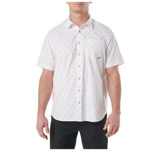 5.11 Tactical Men's Have a Knife Day S/S Button Up Shirt XXL White