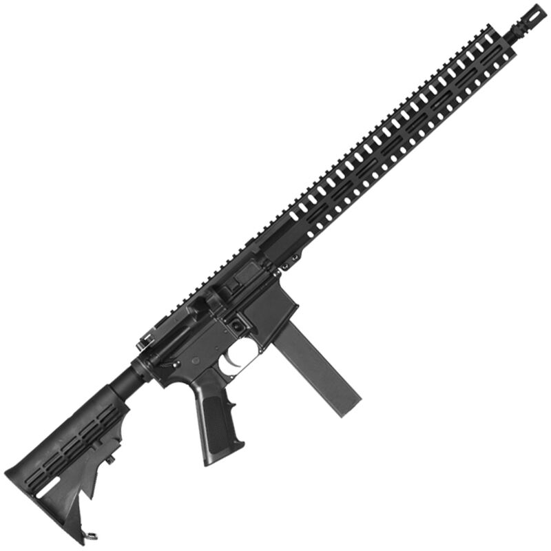 """CMMG Resolute 100 Mk9 9mm Luger AR-15 Semi Auto Rifle 16"""" Barrel 32 Rounds Uses Colt SMG Magazines RML15 M-LOK Handguard Collapsible Stock Black"""