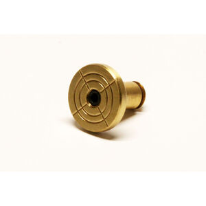 LongShot Round Bullseye Engraved Oversized Magazine Release Button for Hi-Point TS Models Polished Brass