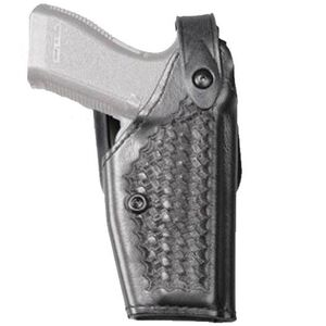 Safariland SLS Mid-Ride Level II Duty Holster Model 6280 Right Hand Basket Weave Finish Black 6280-3832-81