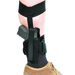 "BLACKHAWK! Ankle Holster Size 16 Medium and Large Frame Semi Autos 3.25"" to 3.75"" Barrels Right Hand Black 40AH16BK-R"