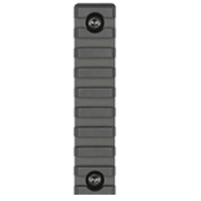 Midwest Industries 1913 Picatinny Mil-Spec Rail Section 11 Slot Rail for M-LOK Slots 6061 Aluminum Hard Coat Anodized Matte Black