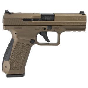 """Canik TP9DA 9mm Luger 4.07"""" Barrel 18 Rounds Single/Double Action Trigger Polymer Frame Burnt Bronze"""