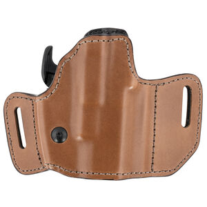 Bianchi 126GLS Assent Holster fits GLOCK 17 and Similar Right Hand Belt Slide Plain Leather with Laminate Liner Tan