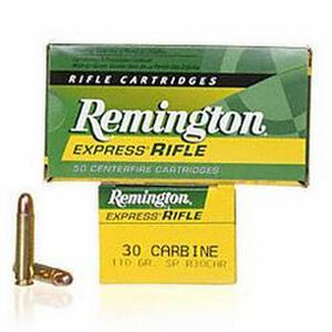 Remington Express .30 Carbine Ammunition 50 Rounds 110 Grain Core-Lokt Soft Point Projectile 1990fps