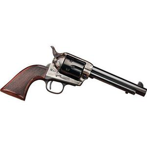 """Taylor's and Company Smoke Wagon Single-Action Revolver Deluxe Edition .45 Long Colt 5-1/2"""" Barrel 6 Rounds Wood Grips Case Hardened Blue Finish"""