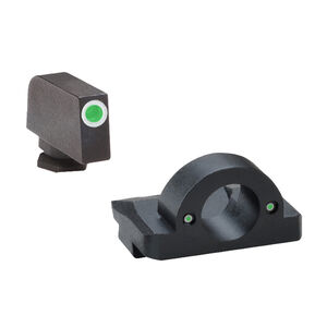 Ameriglo Sight Set for GLOCK Green Tritium Front Dot with White Outline and Green Tritium Rear Dots