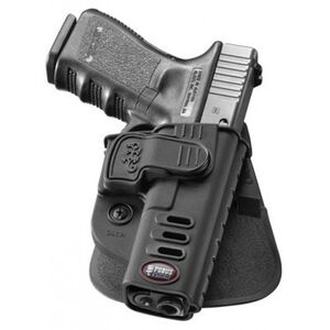 Fobus CH Rapid Release Level 2 GLOCK 17/19/22/23/31/32/34/35 Paddle Holster Right Hand Black Matte Finish GLCH