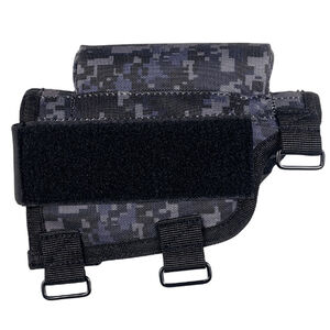 Voodoo Tactical Adjustable Cheek Rest With Detachable Ammo Carrier For Rifle Buttstock Ambidextrous Design Tactical Nylon Urban Digital Camouflage Pattern