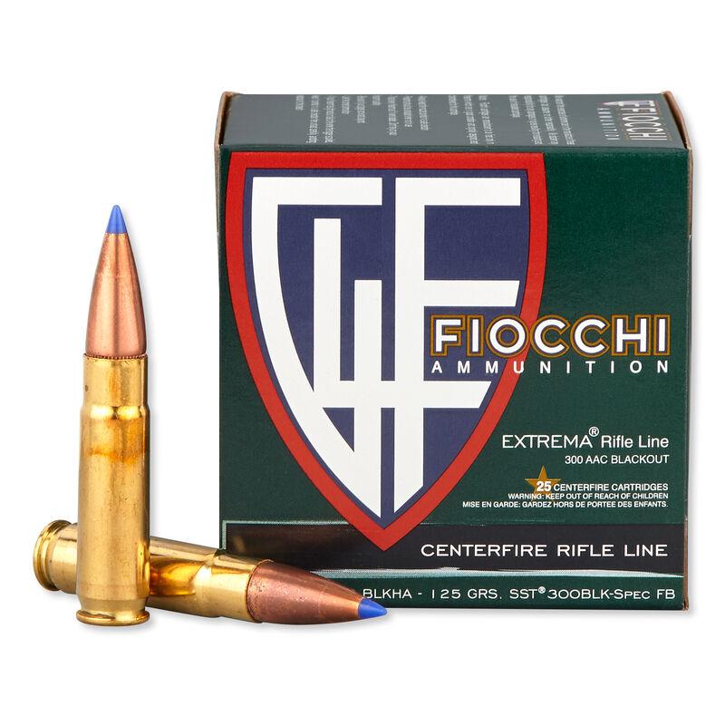FIOCCHI .300 Blackout Ammunition 500 Rounds Hornady SST 125 Grains 300BLKHA
