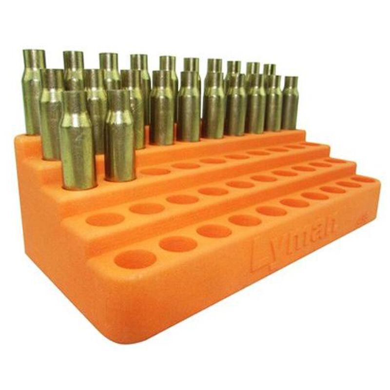 "Lyman Bleacher Loading Block 50 Case Up To .485"" Diameter Base Polymer Orange 7728086"
