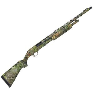 "Mossberg Model 500 Turkey Pump Action Shotgun 20 Gauge 22"" Vent Rib Barrel 3"" Chamber 5 Rounds Adjustable Fiber Optic Sights Synthetic Stock Mossy Oak Obsession 54339"