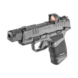 """Springfield Armory HELLCAT RDP 9mm Semi-Auto Pistol 3.8"""" Barrel HEX Wasp Red Dot Self Indexing Compensator Ambidextrous Manual Safety 13 Rounds Black"""