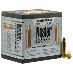 Nosler 6mm Creedmoor Unprimed Reloading Brass 50 Casings