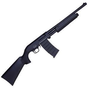 "Black Aces Tactical Pro M Series 12 Gauge Pump Action Shotgun 18.5"" Barrel 3"" Chamber 5 Rounds Detachable Box Magazine Synthetic Stock/Forend Matte Black"