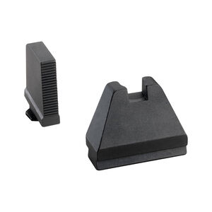 Ameriglo 9XL Tall Sight Set for GLOCK Black Serrated Front and Flat Black Rear