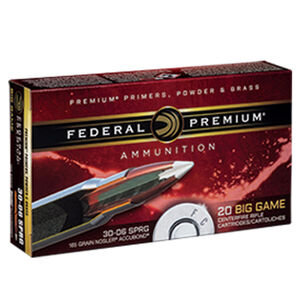 Federal Premium Nosler .30-06 Springfield Ammunition 20 Rounds 165 Grain Nosler Accubond 2800fps