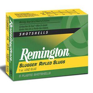 "Remington 12 Gauge Slugger Ammunition Five Rounds 438 Grain Rifled Slug 3"""