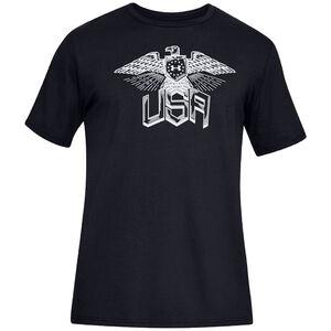 Under Armour Men's Freedom Eagle T-Shirt XL Cotton Blend Black