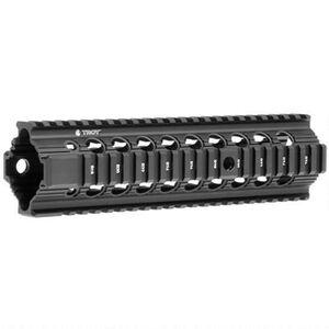 """Troy Industries Bravo BattleRail AR-15 Free Float Quad Rail Handguard 9"""" Aluminum Black STRX-BR1-90BT-00"""