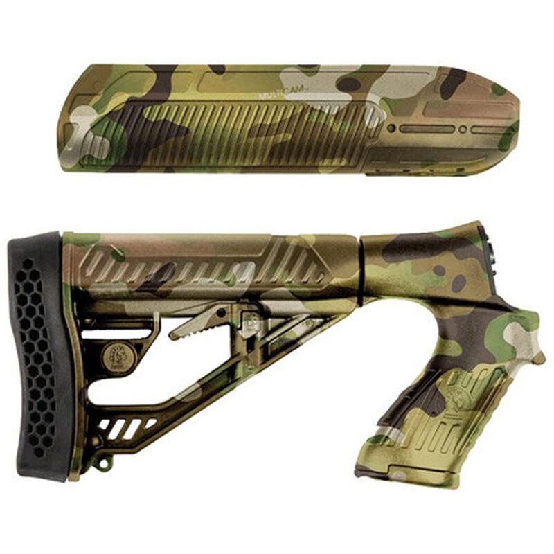Adaptive Tactical, EX Performance Mossberg 500/590/88 Foredn And M4 Style  Stock, Polymer, Multicam