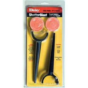 Daisy ShatterBlast Target Disks Target Stakes Clay Plastic 990257-872