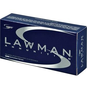 Speer Lawman 9mm Luger Ammunition 50 Rounds 115 Grain Total Metal Jacket Round Nose 1200fps