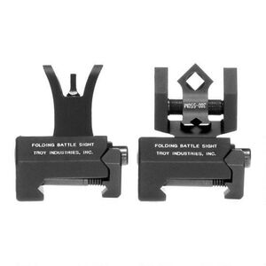 Troy Industries M4 Micro Tritium Front and Di-Optic Aperture Rear Sight Set Black SSIG-MCM-STBT-01