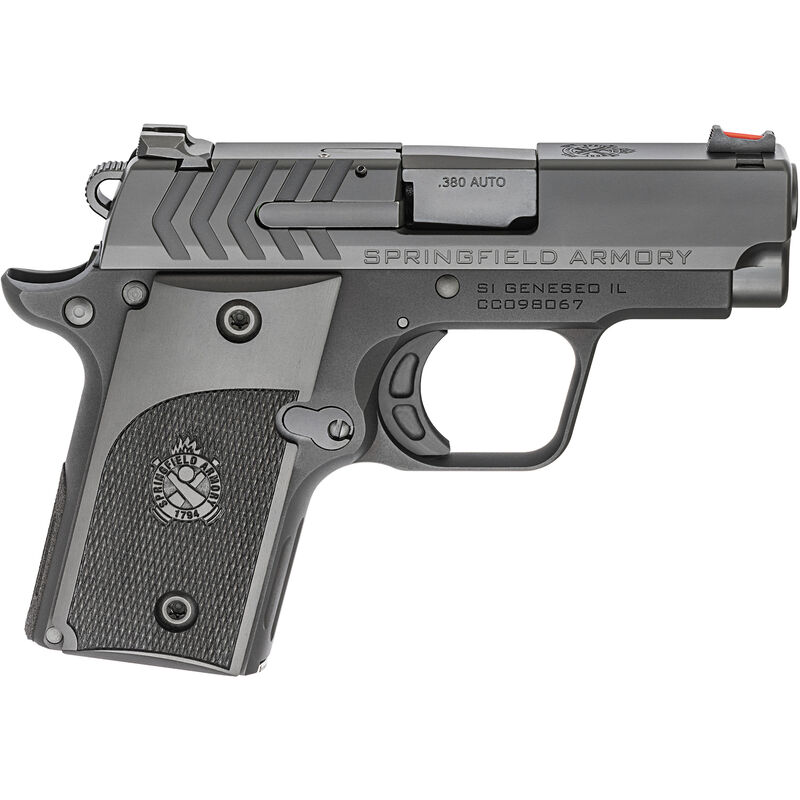 "Springfield 911 Alpha .380 ACP Semi Auto Pistol 2.7"" Barrel  6 Rounds Black Stainless Slide and Barrel with Anodized Frame"