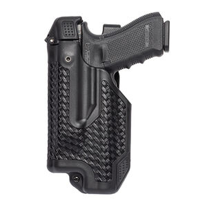 BLACKHAWK! Epoch GLOCK 20, 21, 23 Level 3 Light Bearing Duty Holster Polymer Left Hand Basketweave Black 44E013BW-L