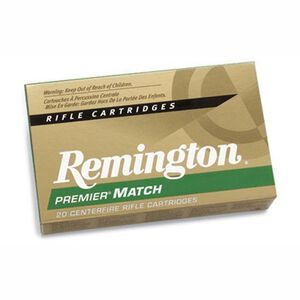 Remington Premier Match .300 AAC Blackout Ammunition 20 Rounds 125 Grain Sierra MatchKing Open Tip Match Projectile 2800fps