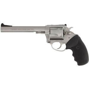 """Charter Arms Target Bulldog .44 Special Revolver 5 Rounds 6"""" Barrel Black Rubber Grip Matte Stainless Finish"""