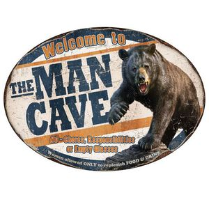 """River's Edge Products """"Man Cave"""" Novelty Sign Tin 12 Inches by 17 Inches 1564"""