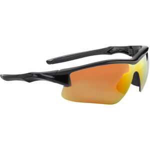 Acadia Shooter's Safety Glasses Clear Red Mirror Lens Black Polymer Frame Comfort Molded Temple