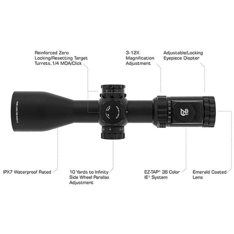 UTG OP3 3-12x44 Compact Scope OP3-GM3124UMOA