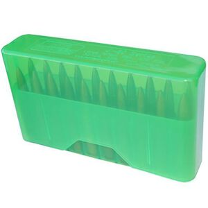 MTM Case-Gard J-20 Series Rifle Ammo Box Large Long Rifle Holds 20 Rounds Clear Green J-20-LLD-16
