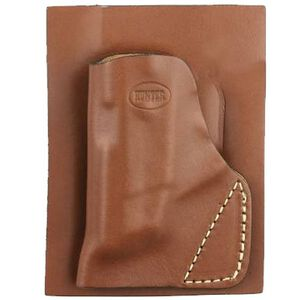 Hunter Pro-Hide Ruger LCP With Crimson Trace Laser Pocket Holster Right Handed Leather Brown 2500-3