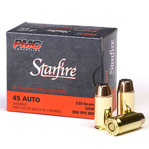PMC Starfire .45 ACP Ammunition 20 Rounds Starfire JHP 230 Grains 45SFA