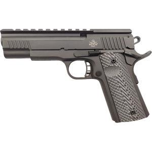 "Rock Island Armory XT 22 Magnum Pro .22 WMR 1911 Style Semi Auto Rimfire Pistol 5"" Bull Barrel 14 Rounds with Top Rail Synthetic G10 Grips Black Finish"