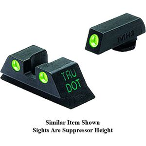 Mako Group Meprolight Tru-Dot Night Sight Suppressor Height GLOCK 17/22/31/37 Green Tritium Enhanced Black
