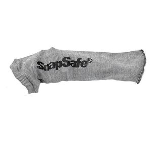 "SnapSafe Silicone Knit Handgun Sock 8"" Barrel Silicone Treated Grey 75890"