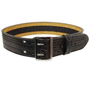 """Safariland Model 87V Suede Lined Belt w/Hook and Loop System 2.25"""" Basket Black Chrome Fastener Size 38"""" 87V-38-8"""