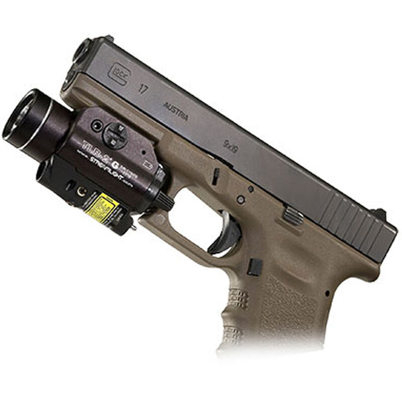 Streamlight TLR-2G Green Laser and 300 Lumen LED Weapon Light 1x CR123A Battery Ambidextrous Toggle Switch Aluminum Body Black 69250