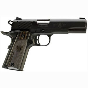 "Browning 1911-22 A1 Black Label Semi Auto Rimfire Pistol .22 LR 4.25"" Barrel 10 Rounds Laminate Grips Black"