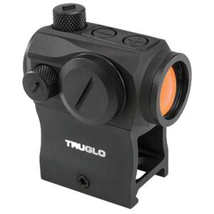 TRUGLO Tru-Tec 20mm Red-Dot Sight 2 MOA Dot CR2032 Battery Low and High Mounts Black Finish